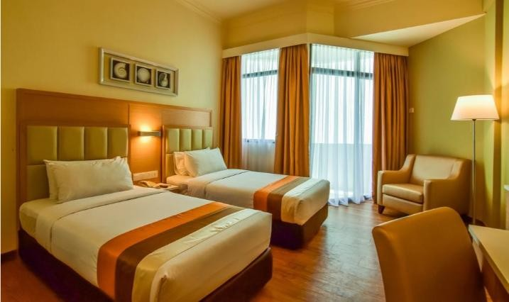 Deluxe King or Twin Room with Partial Sea View